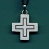 Benedictine Pewter Cross